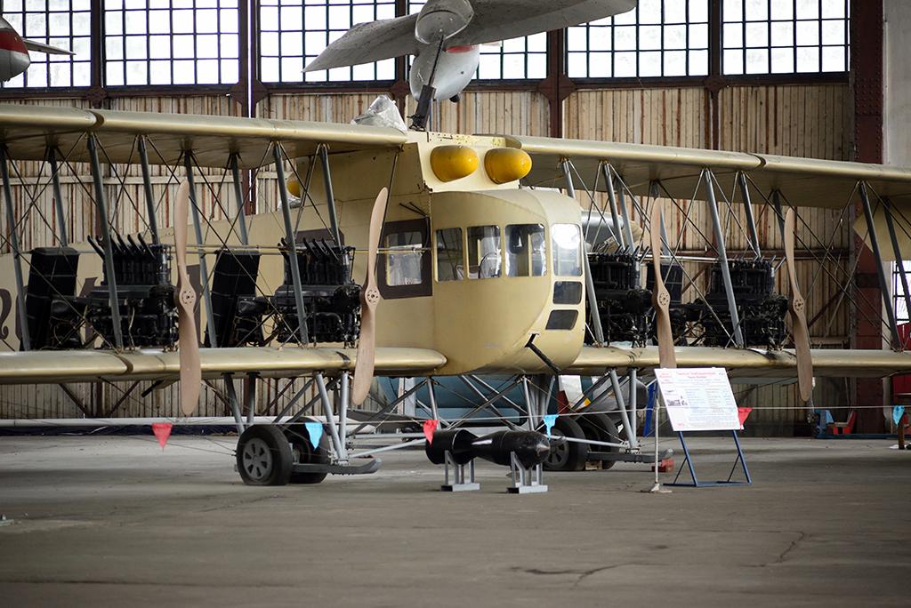 Макет биплана С-22 «Илья Муромец», Центральный музей ВВС РФ, п.Монино